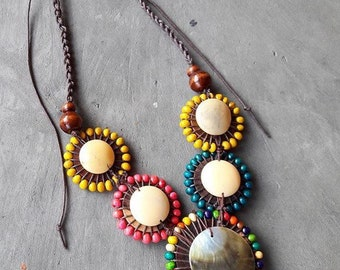 necklace shell multicolor (Wd)