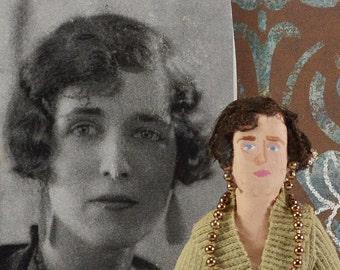 Georgette Heyer- Author Doll-  Miniature Art- British Writers