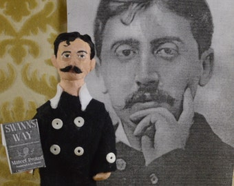 Marcel Proust Doll Miniature Classic Literature French Author Art Collectible