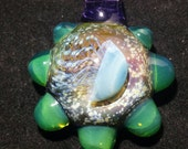 Space Jellyfish with Slyme Boro Glass Pendant Handblown lampwork