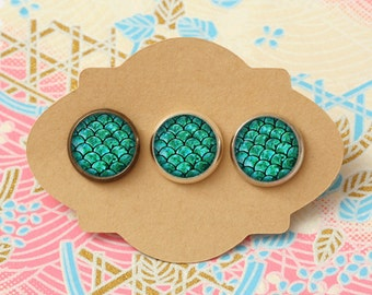 10 pcs handmade  scallop design - earrings, pendant, ring - 12mm (PW-801)