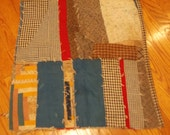 Antique Primitive Cutter QUILT Pc 11 Quilt BLOCKS Homespun Feedsacks Sew Craft Fabric Collage Projects