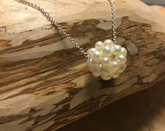 Southern Cotton Boll Necklace