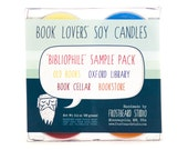 BIBLIOPHILE - Tea Light Sample Pack - Book Lovers' Scented Soy Candles