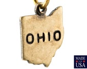 Brass Ox Tiny Ohio State Charm Drops (2) chr204AA