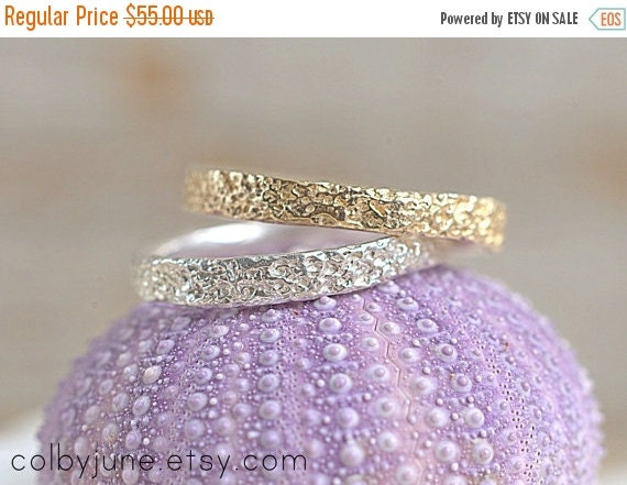 40% Off Sale Gold Vermeil Thin Coral Ring  Stacking Ring   Vermeil Ring