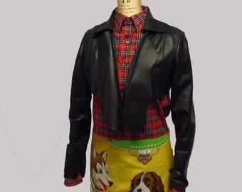 Poker Dog Cotton Flannel Shift Tunic Dress