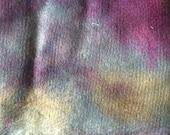 Vegetarian 'silk', Purple, Gold, hand dyed, textile art, mixed media,