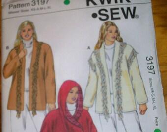 Kwik Sew 3197 Misses Jacket  sewing pattern