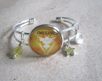 Pokemon GO Team Instinct Charm Bracelet