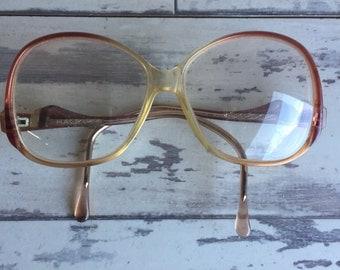 Vintage Halston Eyeglass Frames - Glasses - 1980 Burgundy Made in France