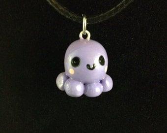 Lavender Kawaii Octopus Charm