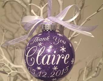 Wedding Thank You Christmas Baubles