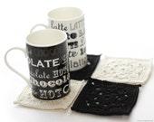 CROCHET PATTERN - Coffee Shop Coasters - Instant Download (PDF)