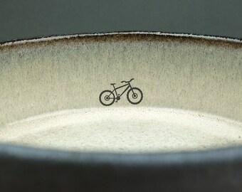 Black Ceramic Bike Dish