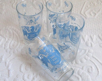 republican party tumbler . 4 tumblers . 4 elephant glasses . seal of NJ . frosted tumblers . gay glasses . Republican NJ barware