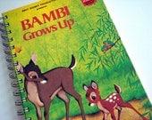 Bambi Notebook / Deer Journal / Recycled Book Journal
