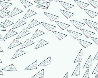 Paper Obsessed Paper Airplanes Fabric by Windham