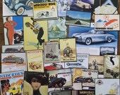 Mercedes Benz Vintage Car Advertisements Collage, Scrapbook and Planner Kit Number 2245