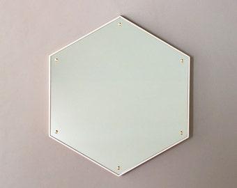 Hex Mirror - Bleached Maple Hexagon Mirror