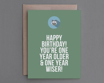 """Funny, Sarcastic Birthday Card. Humorous, Clearance Sale Item. Mean, Macabre. For Friend, Mom, Dad, Him, Her. """"Closer Death"""" (CB102)"""
