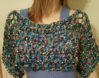 Crochet Ribbon Shrug