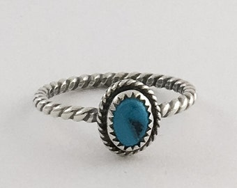 Handmade Sleeping Beauty Rough Artisan Sterling Silver Stacking Ring Size 8 READY TO SHIP