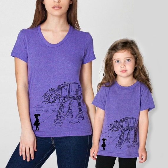 Mother Daughter Matching T-shirts My Star Wars AT-AT Pet, mommy and daughter shirt set, mother's day, gift for mom, Star Wars