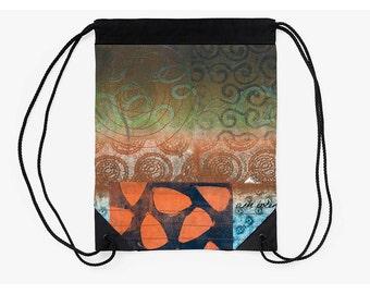 Unique Cinch Bag,Drawstring Backpack,Boho Bag,Festival Bag,Supplies for Back to School,Art Student Gift,Gifts for Artists,Best Friend Gift