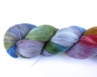 Daydream--hand dyed lace weight yarn, BFL and silk, (875yds/100gm)