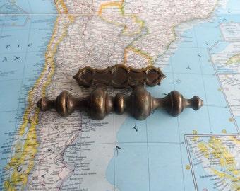 SALE! Chunky vintage brass metal handle