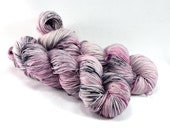 Ballet Rehearsal - Letter Plus - Pink and Black Speckled Yarn - Pink and Gray Sock Yarn - Pale Pink Yarn - Merino Nylon Blend