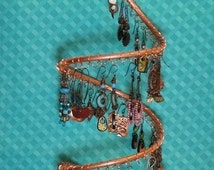 Hanging Copper Earring Holder, Earring Display, Hanging Jewelry Display, Post Earrings, Hanging Earrings #J10 by CC Design