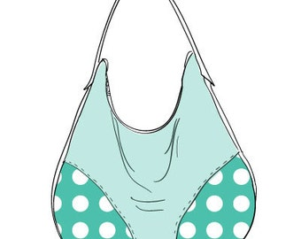 Presidio Purse Sewing Pattern - Oversize Hobo Style Purse