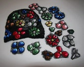 Vintage Colorful Sequin Appliques And Sleeve Lot Salvaged From 1930 40s  Clothing