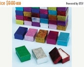 Summer Stock Up Sale 20 Pack Multi Color 3.25 X 2.25 X 1 Inch size Foil Embossed Cotton Filled Jewelry Retail Gift Display Boxes