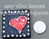 Mini Heart Art ... Little 4x4 canvas