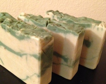 Organic Soap, Organic Cold Process Soap, Natural Soap, Allergy Sensative Soap, Mint Cold Process Handmade Bar Soap