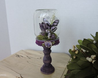 Fairy Butterfly Purple Mini Jar