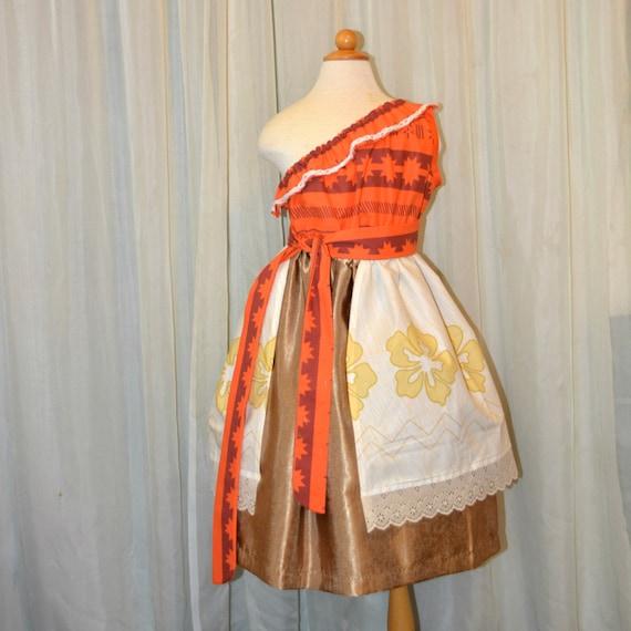Princess Moana Tween Girl Dress
