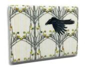 Crow Aspen Fridge Magnet / Bird Art Magnet / Aspen Tree Magnet / Nature Lover Gift / Mountain Decor / Unique Fridge Magnet / Crow Art Magnet