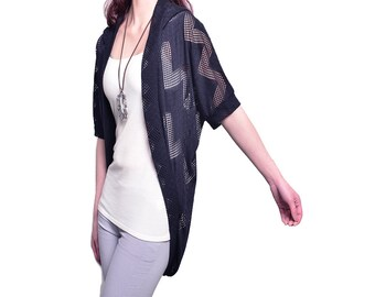 Transparent Meditation - sheer zen shrug / summer sunblock jacket (P1603)