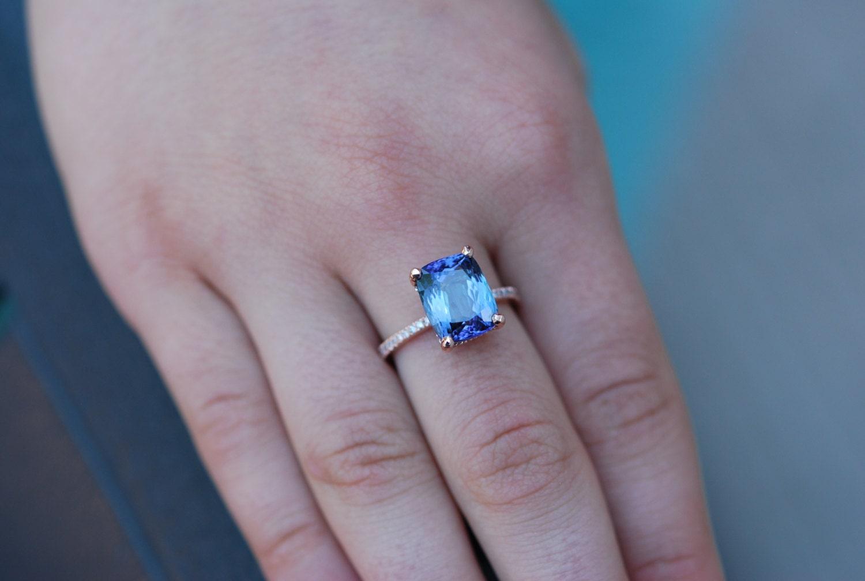 Tansanit ring rose gold verlobungsring lavendel blau petrol - Verlobungsring blau ...