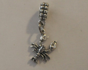 Sterling Silver LOBSTER Bead Charm for Trollbead, European and all Name Brand Add a Bead Bracelets -  3D