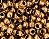 8/0 Metallic Bronze Toho Glass Seed Beads 2.5 inch tube 8 grams TR-08-221