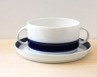 Thomas Germany Flammfest Kobalt soup bowl, 1970s German mod design.
