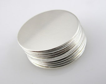 """Sterling Silver Blank Discs - 5/8"""" - Silver Blanks - 24 Gauge 10 Pieces"""