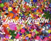 2 POUNDS of assorted beads and charms GRAB BAG mixed lot large small plastic acrylic chunky tiny