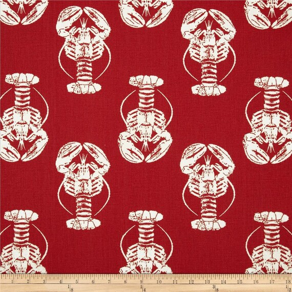 Red Lobster Kitchen Cafe Curtains - 2 panels/ 1 pair - Custom sizes ...