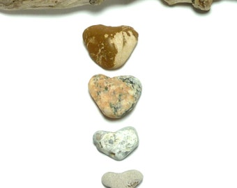 Little Pocket Pebbles Beach Stone Undrilled Hearts Pebble Natural Zen River Rock Wedding Decoration Home Decor Gift HEART ART